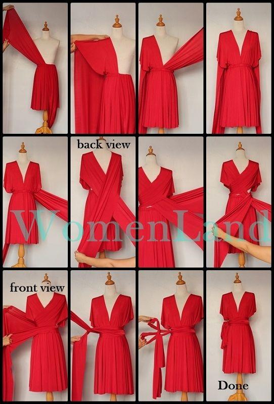 infinity wrap dress style                                                       …