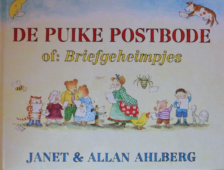 De puike postbode bezorgt brieven bij alle sprookjesfiguren. In de enveloppen zitten echte briefjes.Erg leuk boek.