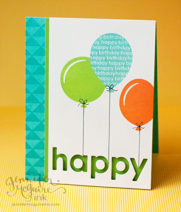 Simple birthday card - use bright colours to make it perfect for little kids