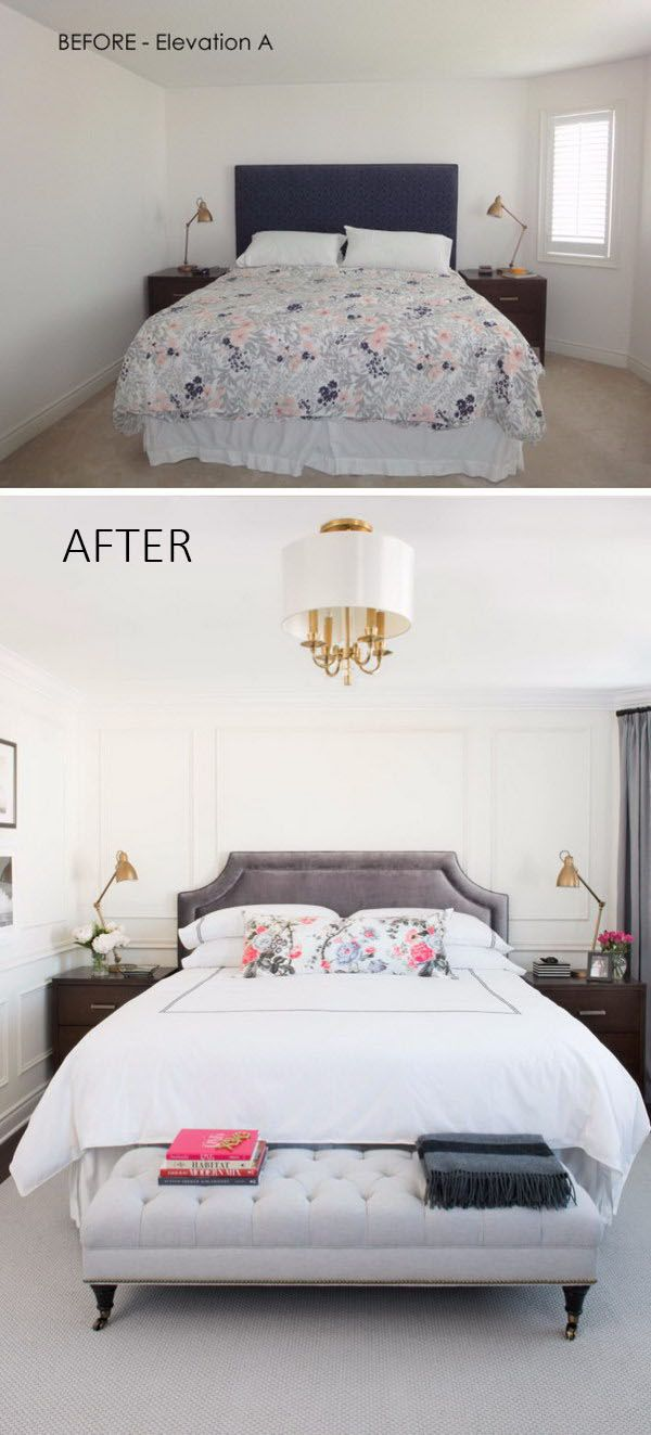 The horizontal stripes will visually widen a small narrow room.  Vertical stripes will make a low ceiling seem taller.