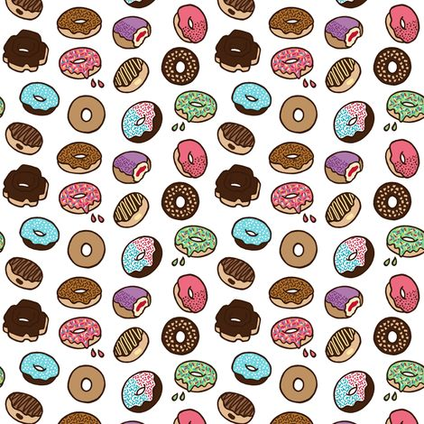 tiny donuts fabric by agnesbartonsabo on Spoonflower - custom fabric