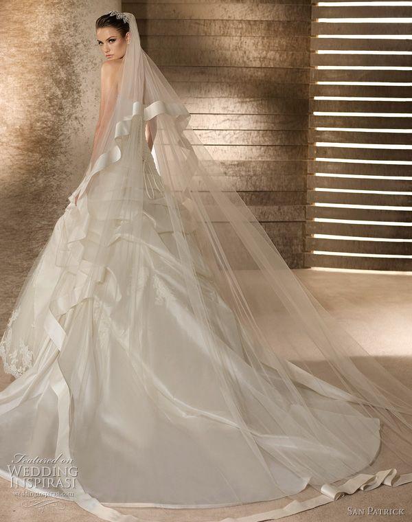 san patrick wedding dresses 2012 avance - septiembre train and bridal veil