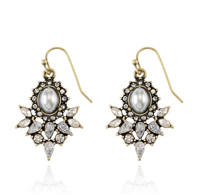 SAMANTHA WILLS - Willow Lane Earrings Gold; Wedding Bridal Luxe Bohemian Jewellery Jewelry
