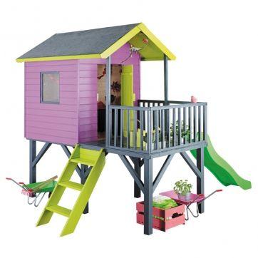 70 best Cabane de jardin enfant images on Pinterest For kids, Play - Maisonnette En Bois Avec Bac A Sable