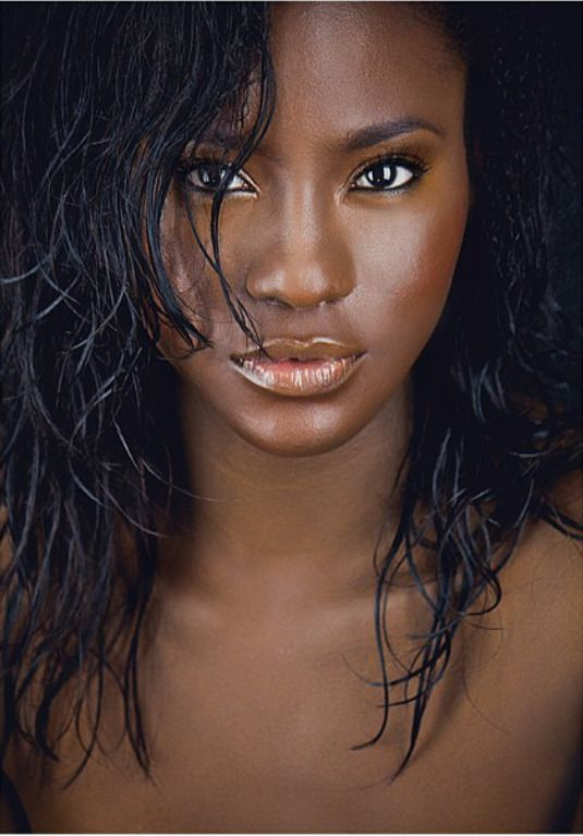 Cute Light Red Black Skin Hair Girl And