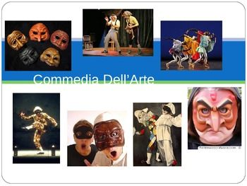 This PowerPoint is a good introduction to Commedia dell' Arte as a drama form, and a useful addition to any English/Drama teachers' bag of tricks. It looks at: • The history of Commedia • The forms of drama that have developed from it • Examples of modern Commedia • The elements of Commedia • Where it is held • The characters • The masks 32 slides in total.
