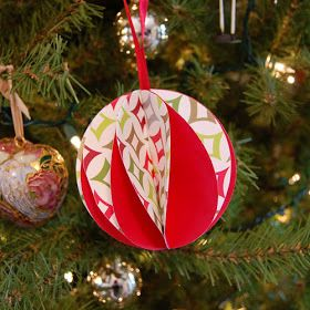 sarah + abraham: paper ball ornaments