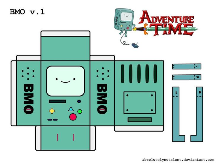 BMO Papercraft v.1 by AbsolutelyNoTalent.deviantart.com on @deviantART