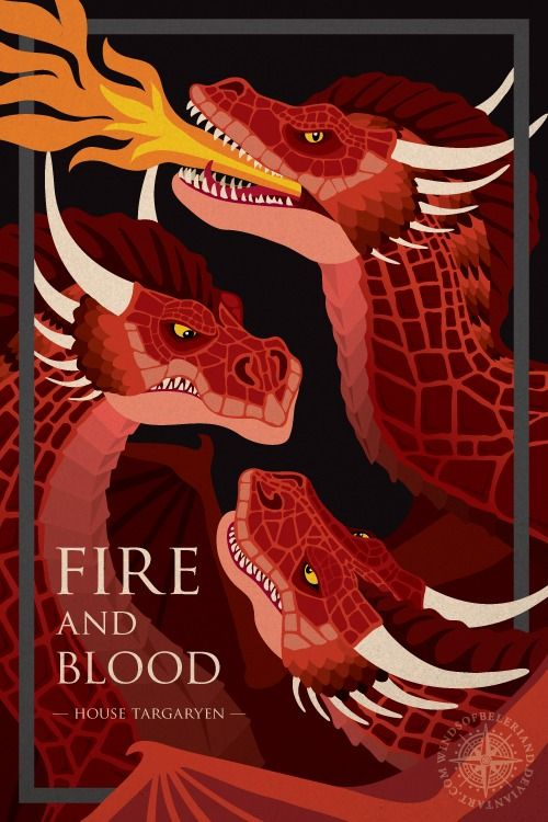 Game of Thrones House Posters - Created by WindsOfBeleriand
