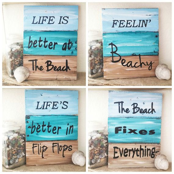 These are 5 beautiful handmade nautical pieces of art, made from pallet boards and ready for your home! You can chose from 5 designs, and at a price that wont break the bank! All signs are about 8x10 with some variation due to the nature of the pallet boards. All signs have been hand painted and varnished. Each sign is just a little different, due to boards being one of a kind, and the hand painting. The photos are representative photos only. - Made with reclaimed pallet wood. - Each sign…