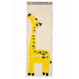 """Porta Oggetti da Muro per Bambini Multi-Tasche """"giraffa"""""""