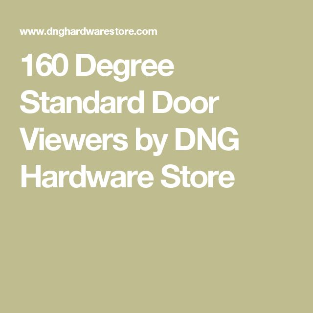 160 Degree Standard Door Viewers by DNG Hardware Store