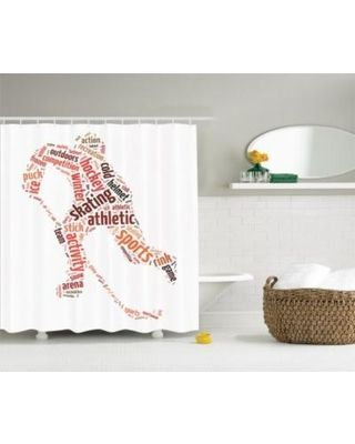 Save Your Pennies! Deals on Ice Hockey Player Skating Sport Frozen Snow Game Winter Shower Curtain Bath Set