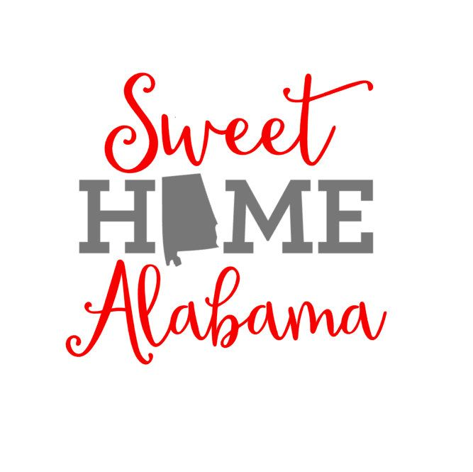 Sweet Home Alabama Vinyl Decal by JustSwankyEnough on Etsy