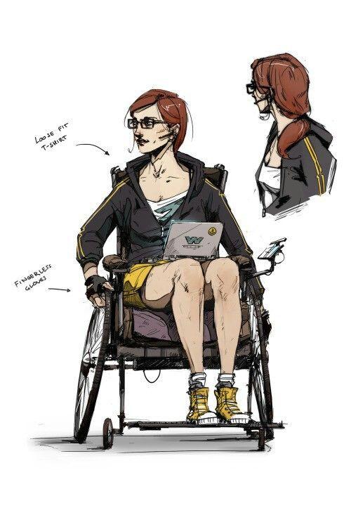 Art of Batman Arkham Knight Barbara Gordon/Oracle Concept Design