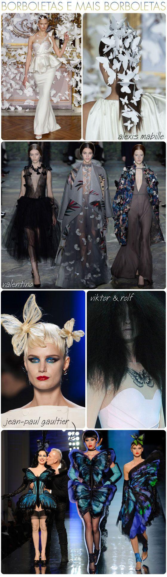 Tendência, borboleta, alta-costura, passarela, desfile, valentino, alexis mabille, Jean-Paul Gaultier, Viktor & Rolf, haute-couture, trend, butterfly