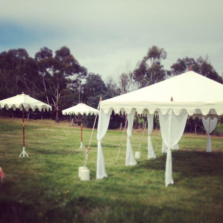 Deluxe 10mx4m with our Umbrellas. www.tentluxuryhire.com.au