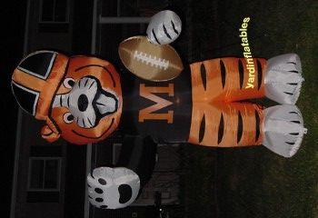 Inflatable Massillon Tigers Mascot Obie yard decoration