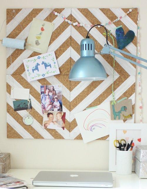 Exceptional Belindau0027s Lovely DIY Home Office Corkboard Design Inspirations