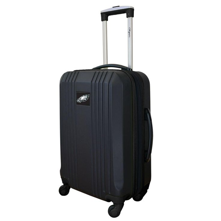 NFL Philadelphia Eagles 21 in. Black Hardcase 2-Tone Luggage Carry-On Spinner Suitcase