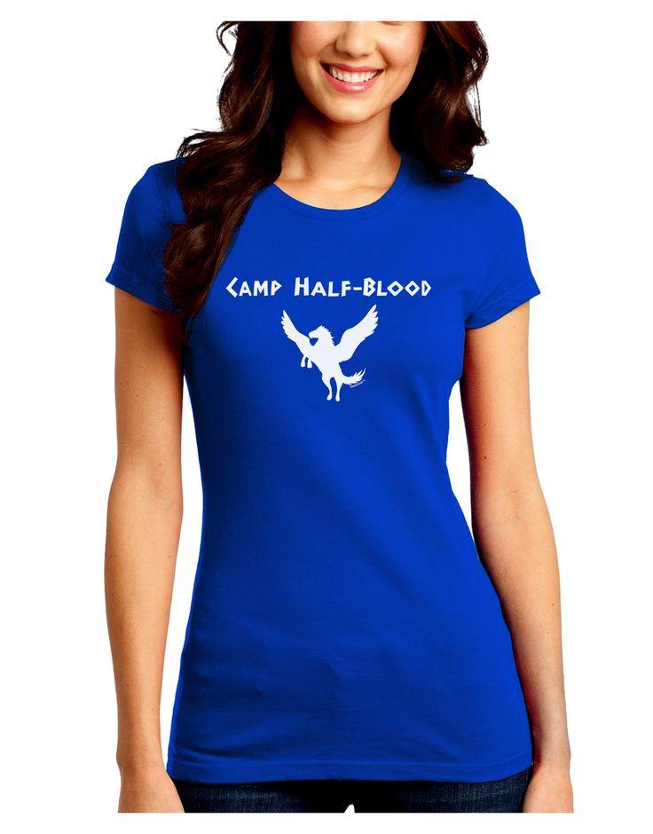 Pegasus Camp Half-Blood Juniors Crew Dark T-Shirt