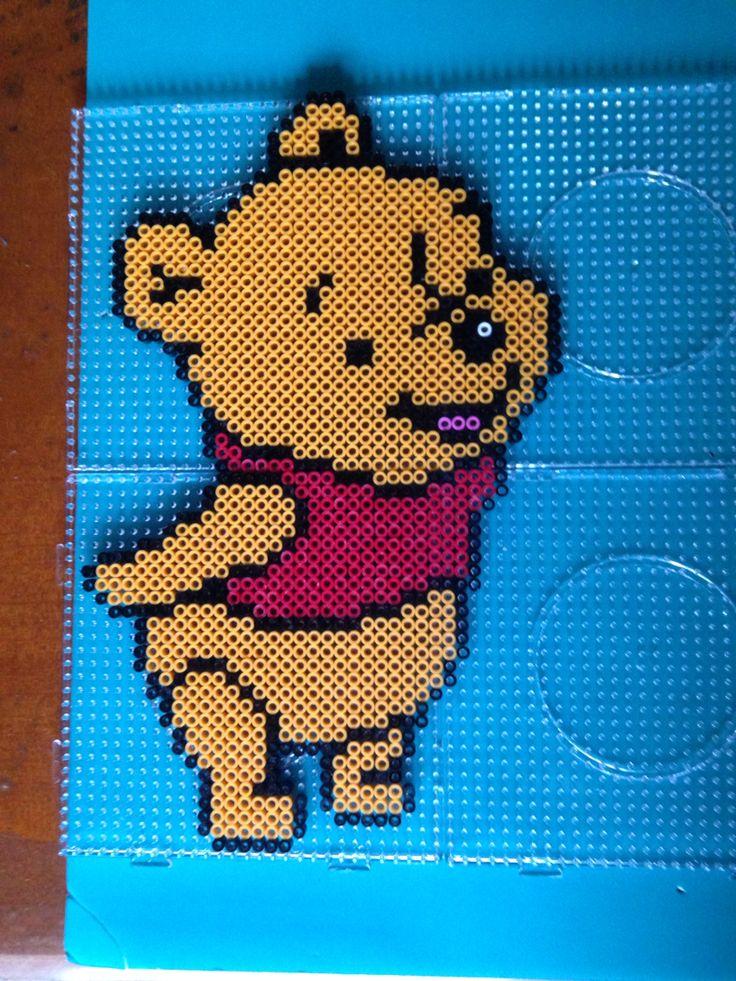 Winnie the Pooh perler beads by Kerry Lee