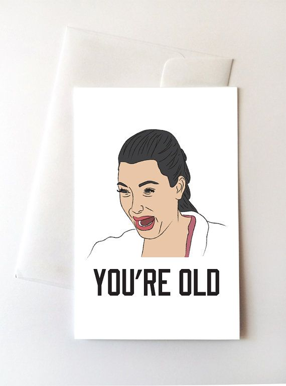 Kim Kardashian Birthday Card by Trill Art Co via @etsy #birthday #kardashian #kim_kardashian #illustration