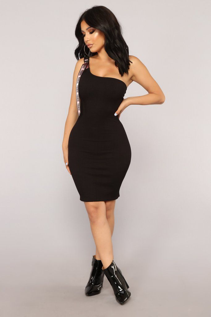 fea87f51ea0 Taste Of Toxic Dress - Black Pink Fashion Nova Models