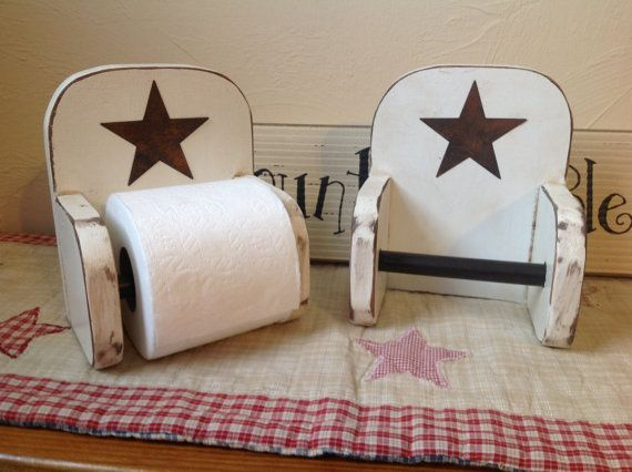 Handmade Primitive Toilet Paper Holder by DeesCountryCrafts, $15.00