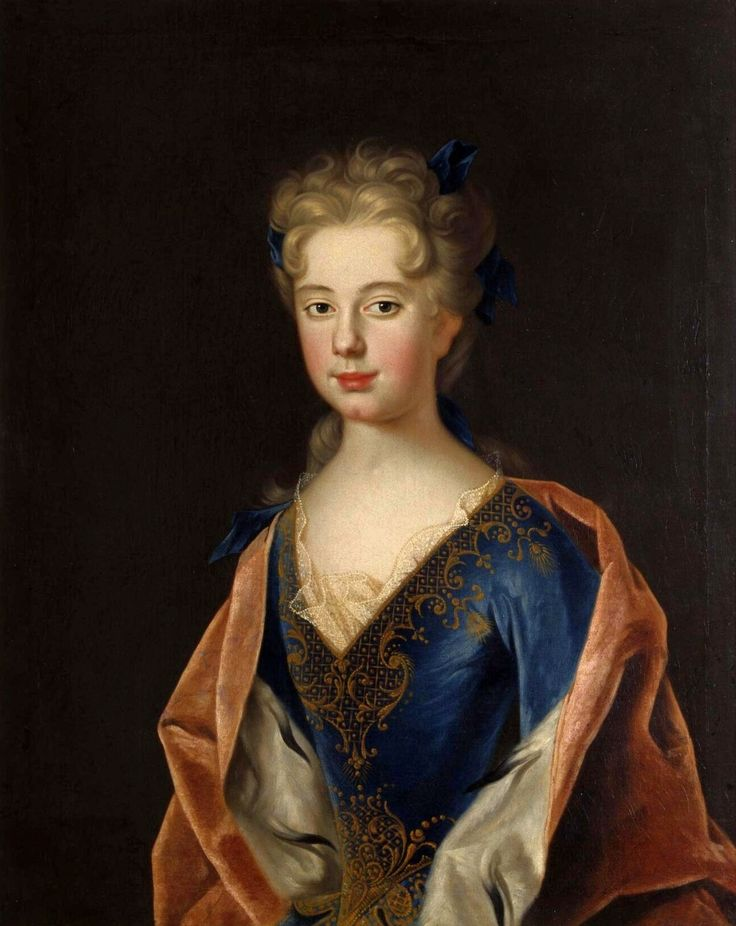 Portrait of Princess Anna Leszczyńska by Johan Starbus, ca. 1712 (PD-art/old), Nationalmuseum in Stockholm