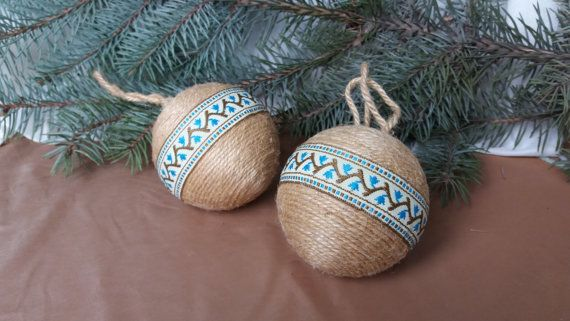 Christmas ball, Christmas decor, Rustic decor, Jute ball, Christmas ornament, Country ornament