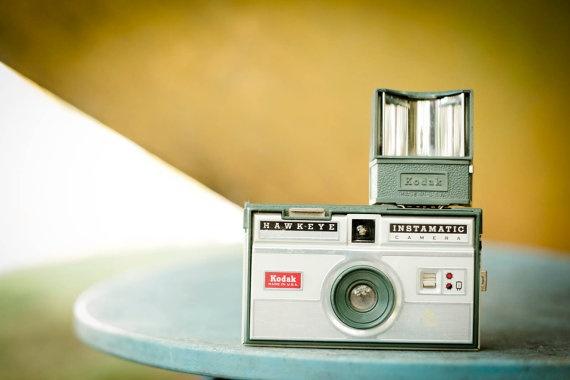 Vintage Kodak Hawkeye Instamatic Camera  Teal & by TheNeonOwl, $12.00