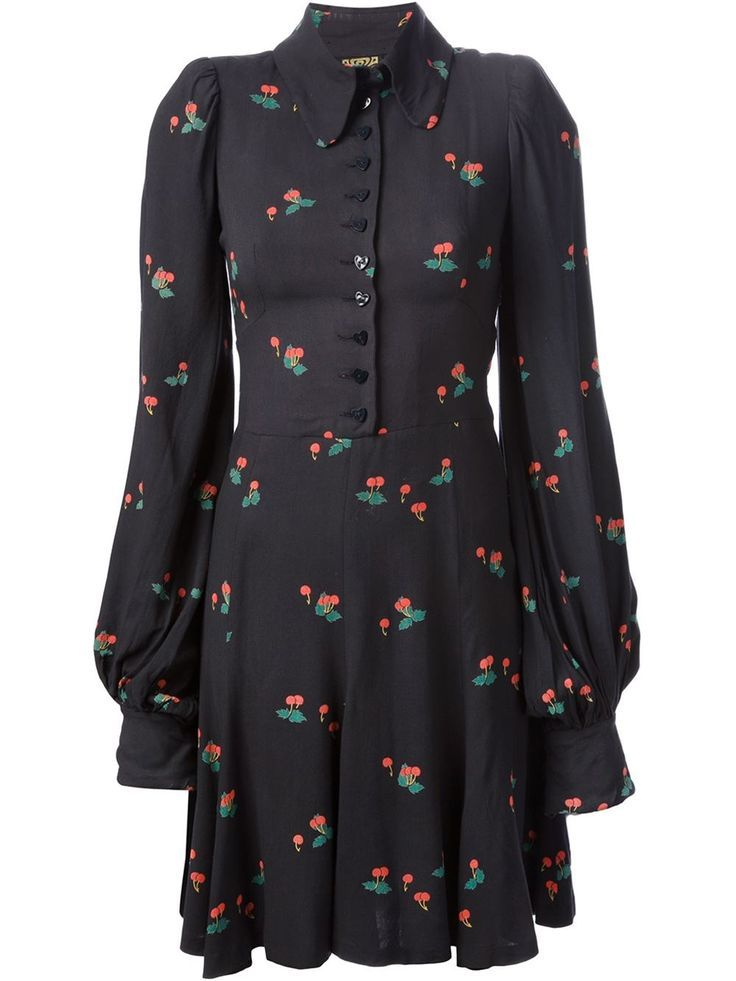 69303c9438c Biba Vintage Cherry Print Dress - Decades - Farfetch.com | moda in ...