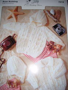 Teddy Aran Knitting Pattern Childrens Cardigans - 7213