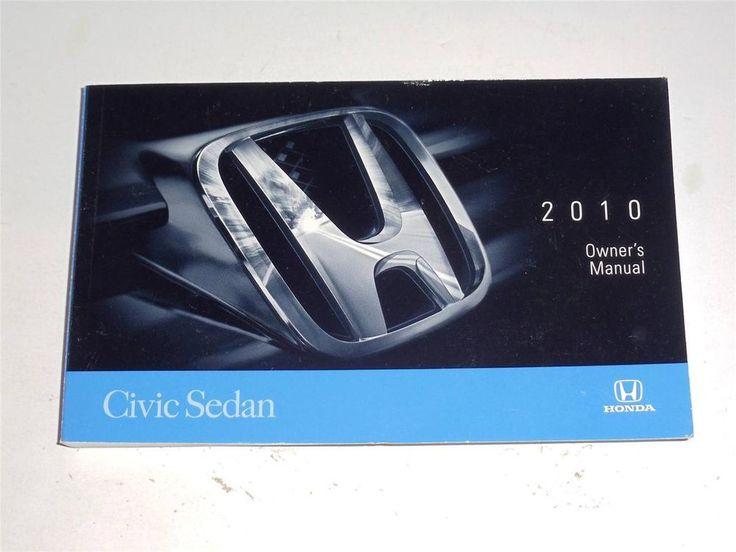 2010 Honda Civic Sedan Owners Manual Book