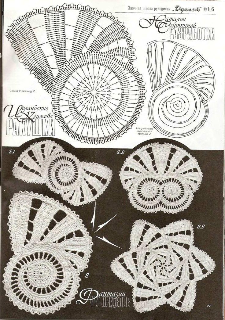 Lovely irish crochet motifs