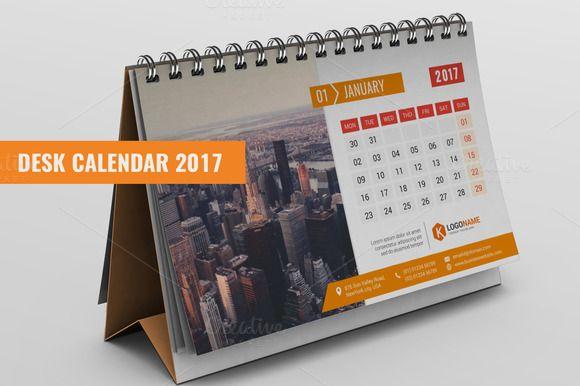 Desk Calendar 2017 by XpertgraphicD on @creativemarket