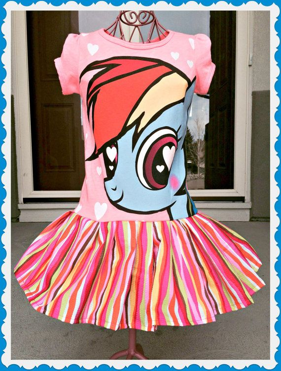 girls My Little Pony  Rainbow Dash twirl party Dress size 2, 4 and 6
