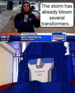 The Transformer with the voice of Unsolved Mysteries.  And an oral presentation.