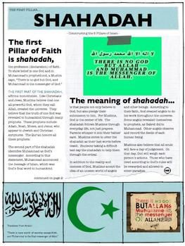 Islam Unit:  What is it?  How did it spread?  What are the 5 Pillars?  And More!    Everything needed to teach the correct history about Islam!
