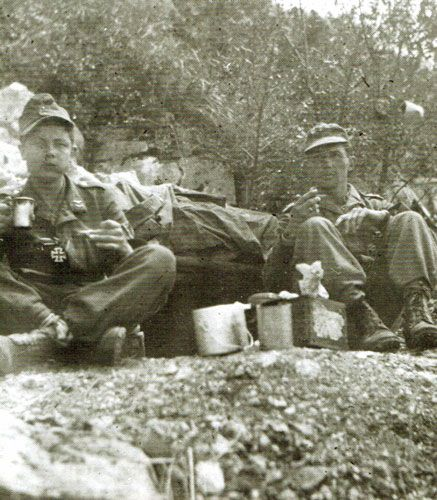 Gefreiter H. Schmidt and Oberfeldwebel A. Ludwig on Hill 593, 7.May.1944. Monte Cassino, pin by Paolo Marzioli