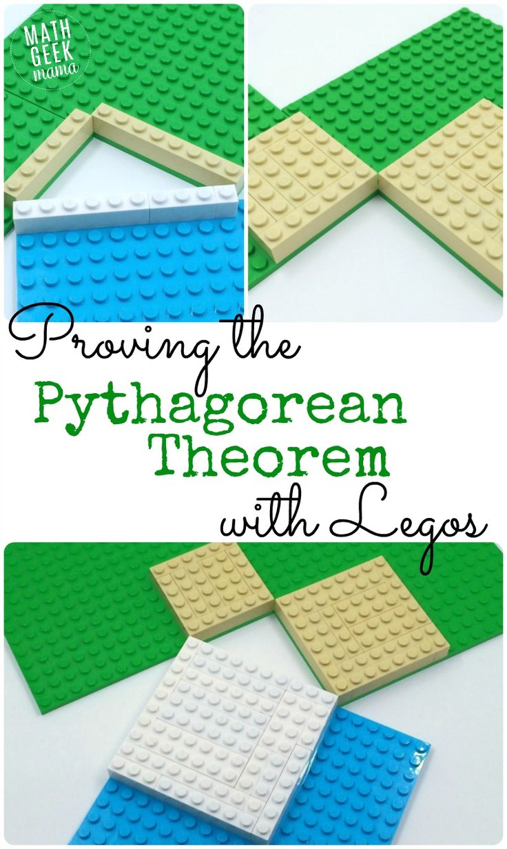 This Pythagorean Theorem Lego Proof provides a helpful visual, as well as providing a unique hands-on geometry learning experience.