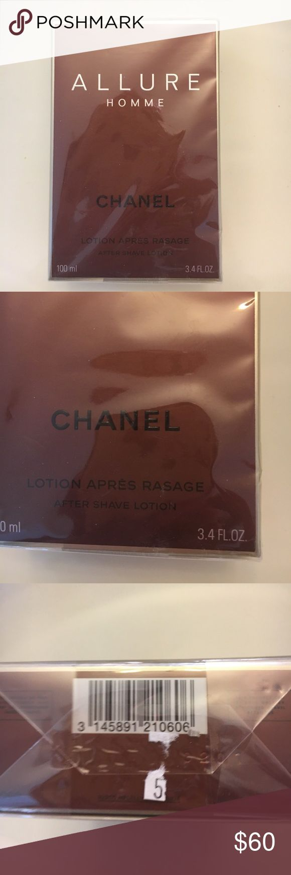 Allure  Chanel Homme After Shave Lotion 3.4 fl oz. brand new and wrapped in box. CHANEL Other