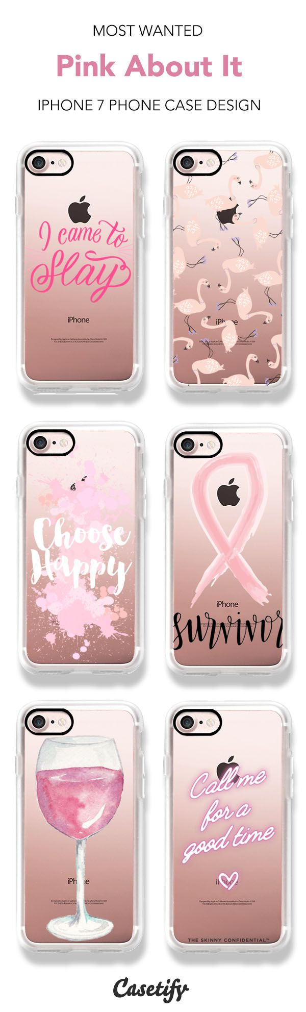 Show your support for Breast Cancer Awareness in October! Casetify will donate 30% of its proceeds to Susan G Koman. Most Wanted Pink About It iPhone 7 and iPhone 7 Plus case. Shop them all here > https://www.casetify.com/artworks/sZMLUJouHb