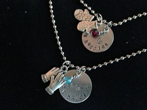 Elsa and Anna Inspired by Disney's Frozen Friendship/ Sister's handstamped Necklaces from (TWO NECKLACES)
