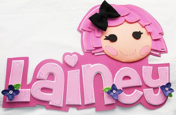 3D Foamie Wall Decor  Pink Lalaloopsy  by FofuchasDolls on Etsy, $20.00