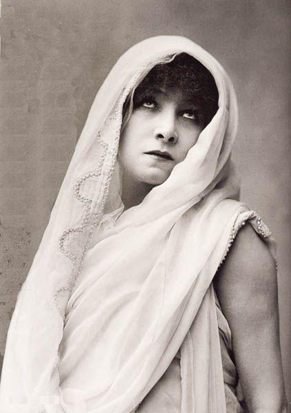 "Sarah Bernhardt: One of the models for Berma. (in Racine's ""Phaedra"")"
