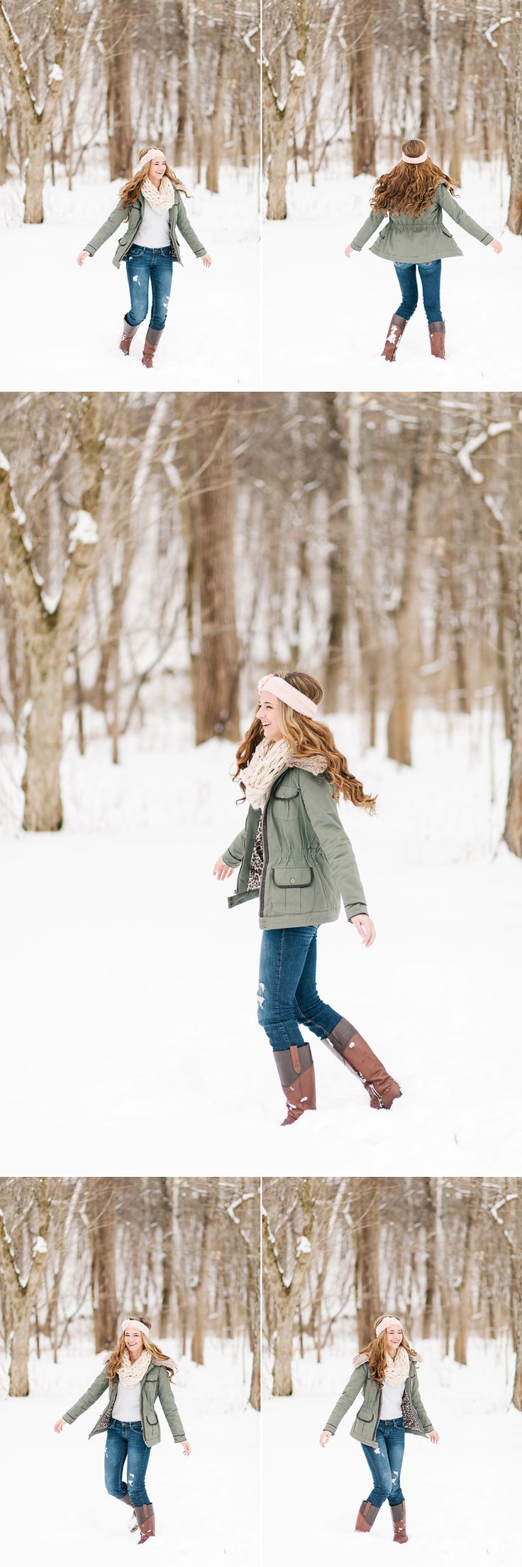 Lux Senior Photography - Snowy Senior Portraits in Bellbrook, Ohio