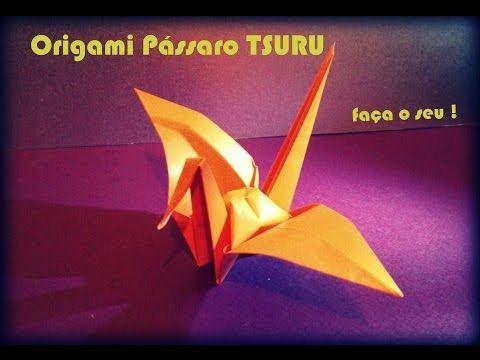 Como dobrar um Tsuru (Origami) - YouTube
