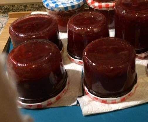 Rezept Erdbeer-Waldbeer-Minze Marmelade von Ela61 - Rezept der Kategorie Saucen/Dips/Brotaufstriche